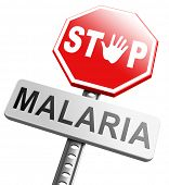 picture of malaria parasite  - stop malaria by prevention treatment with pills or mosquito nets good diagnosis for symptoms and insect repellent and net avoids bite and infection with parasite - JPG