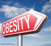 pic of obese  - obesity and over weight or obese people suffer eating disorder and can be helped by dieting road sign