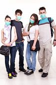 Teenagers With Protection Masks