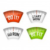foto of scale  - Bathroom scales displaying Do It - JPG