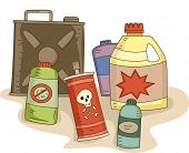 stock photo of pesticide  - Illustration of a Variety of Pesticides in Different Containers - JPG