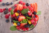 stock photo of fruit bowl  - bowl with fruits - JPG
