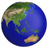 stock photo of earth  - Earth planet globe map - JPG