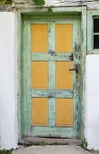 pic of farmhouse  - Old wooden door of an ancient farmhouse - JPG