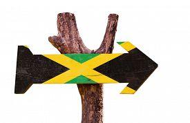 stock photo of jamaican flag  - Jamaica Flag sign isolated on white background  - JPG