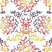 foto of arabic calligraphy  - seamless pattern ornament Arabic calligraphy of text Eid Mubarak concept for muslim community festival Eid Al Fitr - JPG