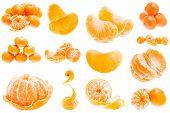 pic of mandarin orange  - Fresh Mandarin Citrus Isolated Tangerine Mandarine Orange In Heap On White Background - JPG