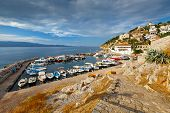 picture of hydra  - Small fishing harbour in the town of Hydra - JPG