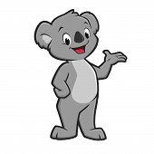 pic of koala  - Vector illustration of a cute smiling koala - JPG