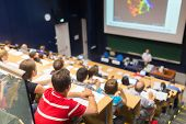 Постер, плакат: Audience in the lecture hall
