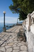 Excursion path lungomare along the Adriatic coast. Croatia. Opatija
