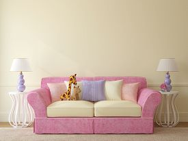 image of couch  - Interior of toddler room - JPG