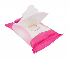 foto of tissue box  - Tissue box isolated on a white background - JPG