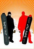snowboarder - vector illustration