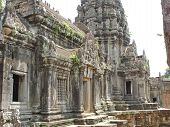 picture of mahabharata  - Interior of a khmer place with building in ruins  - JPG