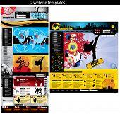 2 modelos de design do site facilmente editáveis