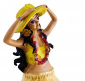 image of hula dancer  - Kitsch novelty Hawaiian Hula Dashboard figure - JPG