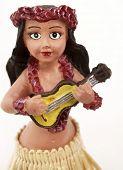 stock photo of hula dancer  - Close up of hula doll - JPG