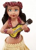 Close up of hula doll