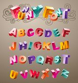 lustig: Bright Font Design Alphabet. in Vektor