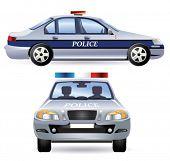 Постер, плакат: Полицейский автомобиль Вектор