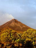 Active Volcano At Costa Rica