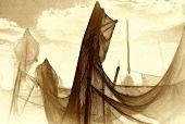 Trocknen des Net, künstlerischen-Modus