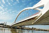 A view of Puente de la Barqueta in Sevilla, Spain