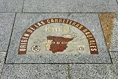 detail of kilometre zero point in Puerta del Sol, Madrid, Spain
