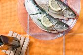 Trout Fish Healthy Dinner Food With Lemon