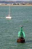 Green Navigational Starboard Buoy.
