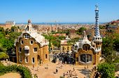 BARCELONA, SPAIN - JUNE 6: The famous Park Guell on June 6, 2010 in Barcelona, Spain. The impressive