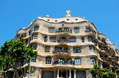 BARCELONA, SPAIN - MAY 23: Casa Mila, or La Pedrera, on May 23, 2010 in Barcelona, Spain. The famous building was designed by Antoni Gaudi