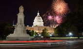 Fireworks Over Capitol Hill And The Peace Monument poster