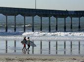 Surfers Pier Reflection