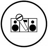 símbolo de karaoke