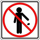 jogar lixo nesta área é proibido sinal