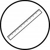 símbolo da régua