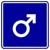 männlichen Geschlechts Zeichen
