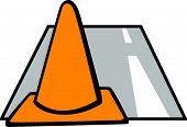 traffic cone in a street