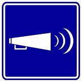 bullhorn sign