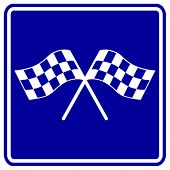 checkered flags racing sign