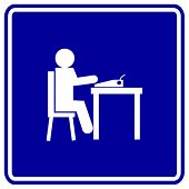 typing in a type writer sign