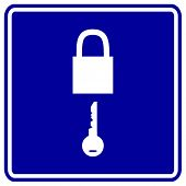 padlock and key sign