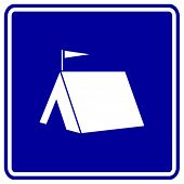 camping area sign