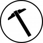símbolo de régua t-quadrado