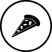 pizza slice symbol