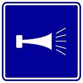 signo de cuerno klaxon