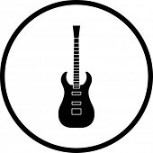 electric guitar symbol