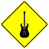electric guitar sign